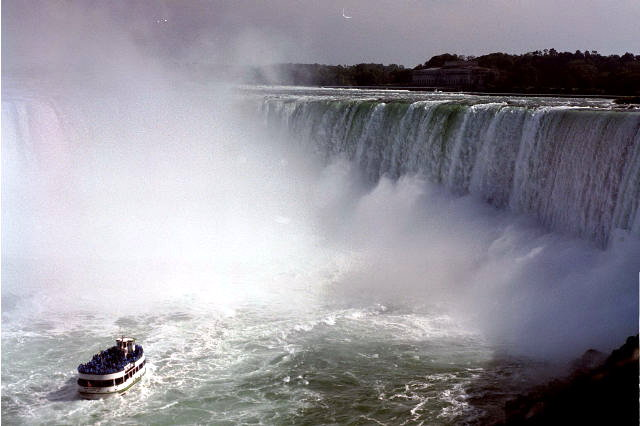 Maid of the Mist at Canadian Falls