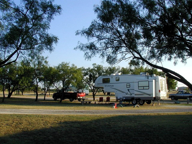 Our Campsite At Tye RV Park