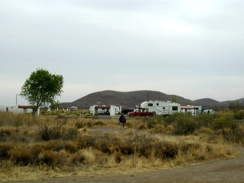 Our campsite at Balmorhea State Park