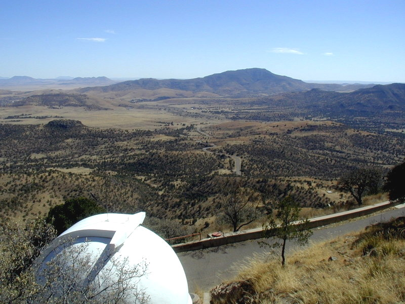 The view from McDonald Observatory.
