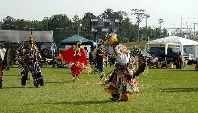 Dancers in Pow Wow at Choctaw Indian Reservation