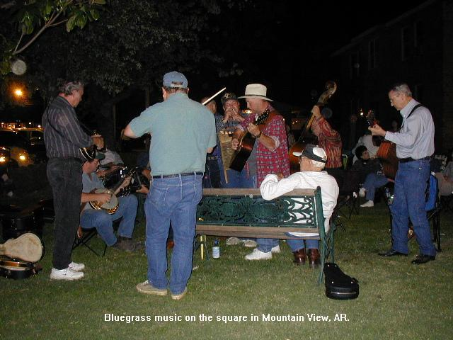 Music on the Mountain View square
