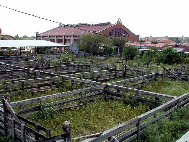 Fort Worth Stockyards cattle pens