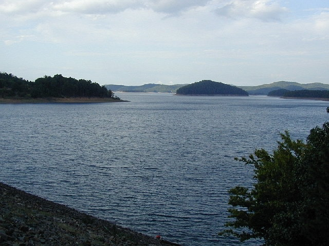 View of Broken Bow Lake from the dam